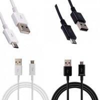 Cable de datos de sincronización del cargador del USB 2.0 de la alta calidad 1M 3FT para la galaxia S4 S5 S6 S7 de Samsung EDGE Xiaomi HTC Negro-Blanco blanco 210pcs Lot