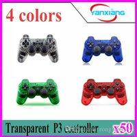 50pcs Transparent 4 couleurs Compateble pour contrôleur P3 Joysticks Gamepads contrôleur sans fil Bluetooth Game Controller ZY-PS-04