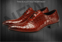 Top Hot New 2016 men business suits Genuine leather shoes Ma...
