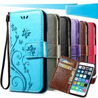 3D Flower Flip PU Leather Case for For iPhone 5 5S SE 6 plus...
