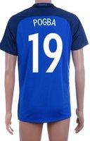 Thai Quality Customized 16- 17 new season France home 19 POGB...