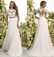 2017 New Fashion Two Pieces Bohemian Wedding Dresses Lace Cr...