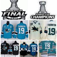 San Jose Sharks Stanley Cup Finals Jerseys 2016 Champions Jo...