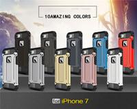 2016 nouveaux cas iphone7 7plus couverture complète PC et TPU dix couleurs doubles couches protection cas iphone