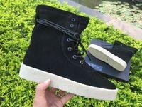 Kanye West Shoes Black Season 2 High Top Sneakers Women Mens...
