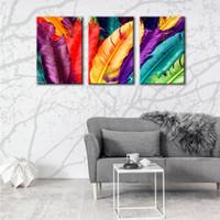3 панели современного печатного перо пейзаж картины на холсте Cuadros для современного домашнего украшения стены фотографии