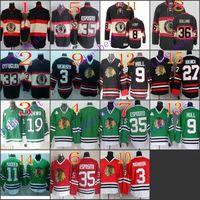 Stitched NHL Chicago Blackhawks 19 jonathan toews BLANK 3 MA...
