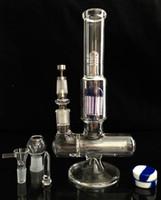 9Arm verre bong verre pétrole verre épais fumer en ligne perc bongs tuyau d'eau joints 14.5mm