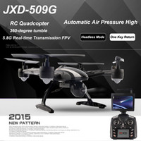 Origine JXD 509G JXD509G RC Quadcopter Drone 5.8G FPV Avec 2.0MP Caméra HD automatique de pression d'air Mode haute Headless One Retour Key