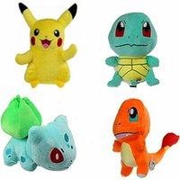 Po ke plush 7 Styles 15- 20cm plush toy Pikachu & Squirtle & ...