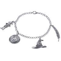 2017 chaud nouveau film de bijoux en alliage de zinc vintage d'argent harry potter Charms bracelets pour les femmes et les hommes zj-0903824-6
