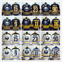 Buffalo Sabres 15 Jack Eichel Ice Hockey Jerseys 9 Evander K...