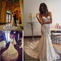 Backless Mermaid Wedding Dresses Spaghetti Neck Sleeveless B...