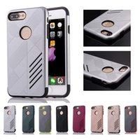 Для Iphone 7 Случай 6 6s плюс Shell Броня Heavy Duty Тонкий Жесткий ПК и гибкий Tough Soft TPU Dual Layer Защитная крышка