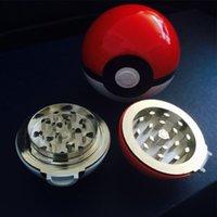 PokeBall Grinder 55mm Diamètre extérieur 52mm Diamètre intérieur Herb Grinder Moissonneuses Prix les moins chers DHL Livraison gratuite