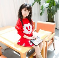 Autumn Winter Girl Sets Mickey Mouse Sweater + Skirt Crochet...