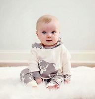 hot sale kids suits Casual Baby girls Boys Reindeer Hooded w...