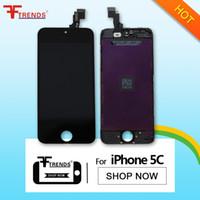 Promotion! pour l'assemblage de l'écran iPhone 5C LCD avec Digitizer Cadre Écran tactile noir Replacement + bas 15pcs Prix / lot AA0014