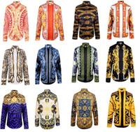 fashion New men brand shirts Designer Luxury runway look pri...