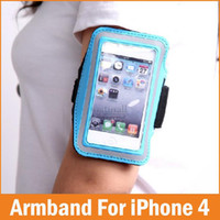 Gros-réglable course SPORT GYM Sac Brassard pour Apple iPhone 4 4S 4G Housse de luxe Jogging Arm Band Capa Mobile Phone Sacs