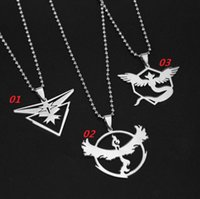 Hot Sale Poke Pendant Necklaces Pokémon Three Team Instinct ...