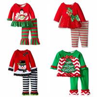 Chirstmas Pajamas Boys Girls Sets Deer snowman Butterfly Lon...