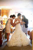 2016 новый элегантный труба русалка свадебное платье свадебное платье с поезда суда с плеча органзы халат-де-Mariage