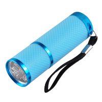 Мини-9 LED ногтей Сушилка Отверждение лампы фонарик факел для УФ-гель лак для ногтей Синий Розовый