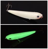 2шт 9см 10г Световой карандаш рыба пластиковые приманки Жесткие приманки рыболовные крючки 3D Minnow рыболовные приманки крючки 6 # Крюк искусственной сумки Pesca