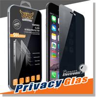 Pour Iphone 7 Intégrité Verre trempé pour S7 iPhone 6 Protecteur d'écran LCD Anti-Spy Film Screen Guard Cover Shield pour Samsung S6 / S5