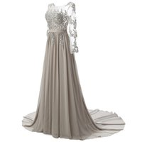 Gray A Line Evening Dresses 2017 Red Formal Prom Dresses Gow...