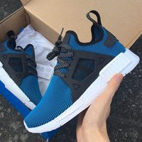 with Box NMD XR1 Primeknit Blue White for Men and Women Snea...