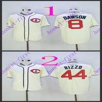 chicago cubs #8 andre dawson #44 anthony rizzo 2016 Jerseys ...