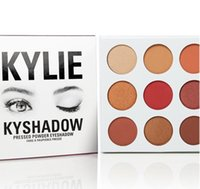 The Hotest 9 Colors Set Kylie Cosmetics BURGUNDY Eyeshadow P...