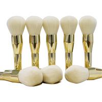KIKO Style Professional Makeup Brushes Tools Gold Powder Blu...