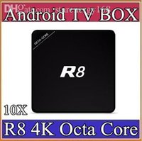 10X TV Box R8 1G / 8G RK3368 Octa base H.265 4K2K Octa base Android 5.1 Smart TV Box 4K Smart Media Lecteur BT4.0 Multilingue 3-J8