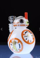 Mini Smoking Robot pipe Star Wars verre Bongs Oil Rigs verre design Poignée boule plate avec 14 mm joint