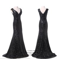 Sequined Sequined Shinny Evening Prom Party Dress Black Off ...