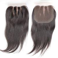 3 Way Part Lace Top Closure(4x4) Hairpieces Brazilian Virgi ...