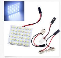 100set LED Dome Panel Lamp T10 + Festoon Adapters 1210 3528 ...