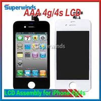 Grade AAA qualité iPhone 4 iPhone 4s LCD Front LCD écran de l'écran tactile pièce de rechange Livraison gratuite
