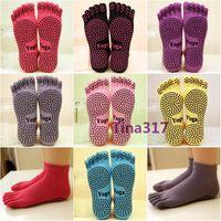 2017 mulheres meias de algodão Fabricantes diretos com sapatos de Yoga Professional Ladies deslizamento 5 meias de dedo do pé algodão 5 dança do dedo meia YOGA 2211
