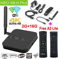MINIX NEO X8-H Plus Android TV Box x8h 4K 2160P Quad Core CPU 2G / 16G 2.4 / 5GHz WiFi Google TV Player + A2 Lite Air Mouse XBMC IPTV Smart TV