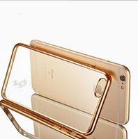 Technologie de galvanoplastique Soft Gel TPU Housse de protection en silicone pour iphone 4.7-5.5 case