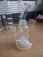 Image réelle verre Bongs avec fonction d'hélice Oil Rigs verre d'eau tuyau de douche perc avec des fentes 14 mm de joint femelle