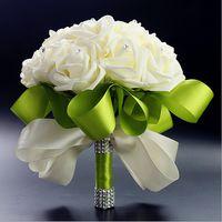 Hand bouquet of flowers, beautiful bride wedding bouquet mil...