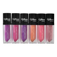 12 Colors QiBest lip gloss QiBest lipstick durable non- stick...
