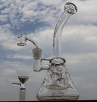 Nouvelle pyramide de plates-formes pétrolières bong verre bong bong verre tuyau d'eau avec quartz banger clou pneu perc verre fumer pipe 14,4 mm joint