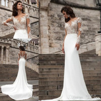 2016 Sexy Sheer Long Sleeves Lace Wedding Dresses 2017 Milla...
