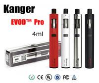 Authentique Kanger Evod Pro Starter Kit avec batterie 4ml CLOCC Bobines Haut Remplir tout en un Conception avec 18650 batterie vs subvod mega